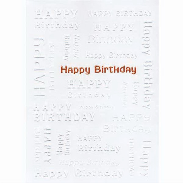 Happy Birthday - Everyday Birthday Greeting Card With Stock Sentiment Inside Photo