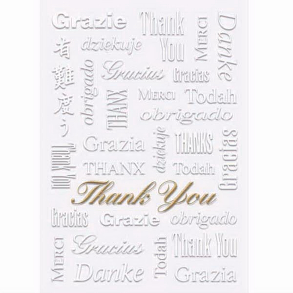 Everyday Thank You Greeting Card With Stock Sentiment Inside Photo