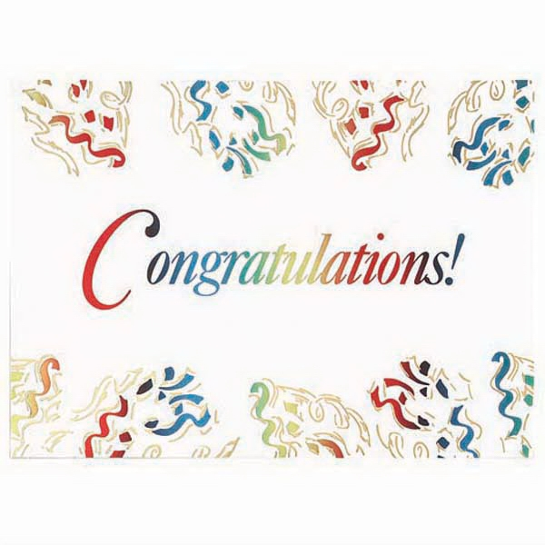 Congratulations! - Everyday Greeting Card With Stock Sentiment Inside Photo