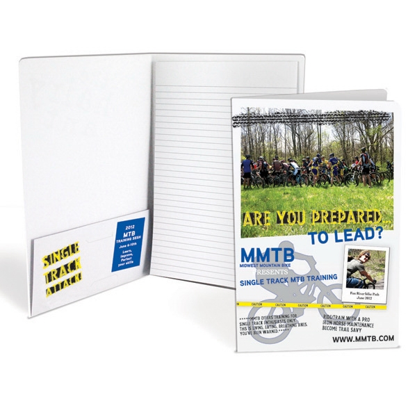 "No Bleed - Image Does Not Come Within 1/8"" Of The Edge Of The Product - Digital Print Mini Padfolio With Built-in Business Card Flap Photo"