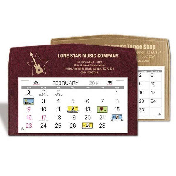 "The Cartwright - Monthly Desk Calendar With 5 3/8"" X 2 5/8"" Medium Memo Style Pad Photo"