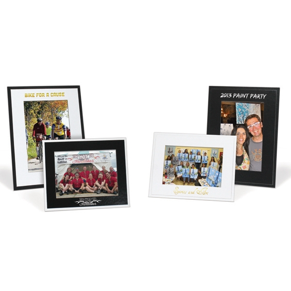"Black On Black Photo Frame, Holds A 4"" X 6"" Photo Photo"