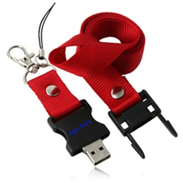 4GB USB flash drive lanyard