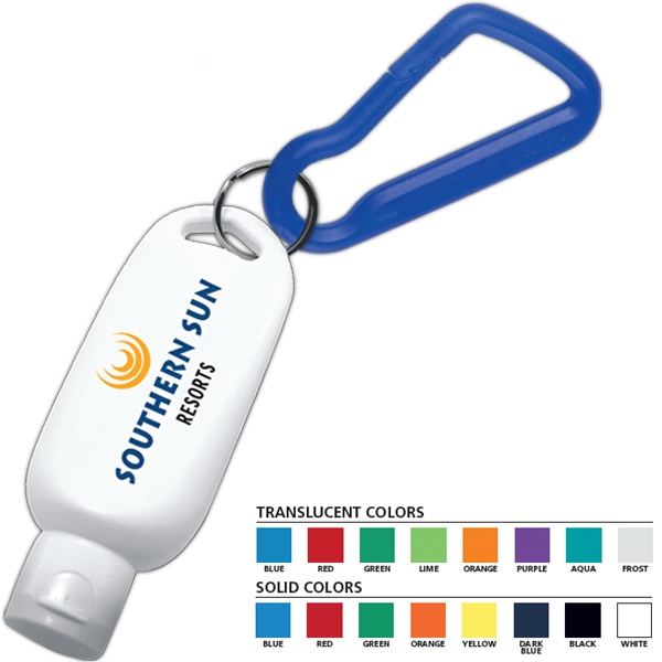 1 1/2 oz SPF 30 Sunscreen with Carabiner - SPF 30 sunscreen with carabiner. 1 1/2 oz.