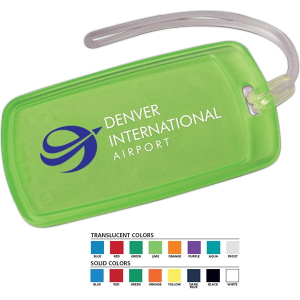 "2 3/4"" X 4 3/4"" X 3/16"" - Durable Luggage Tag Features Write-on Surface On Back Side Photo"