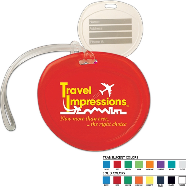"3 3/4"" X 3 1/2"" X 3/16"" - Durable Luggage Tag Features Write-on Surface On Back Side Photo"