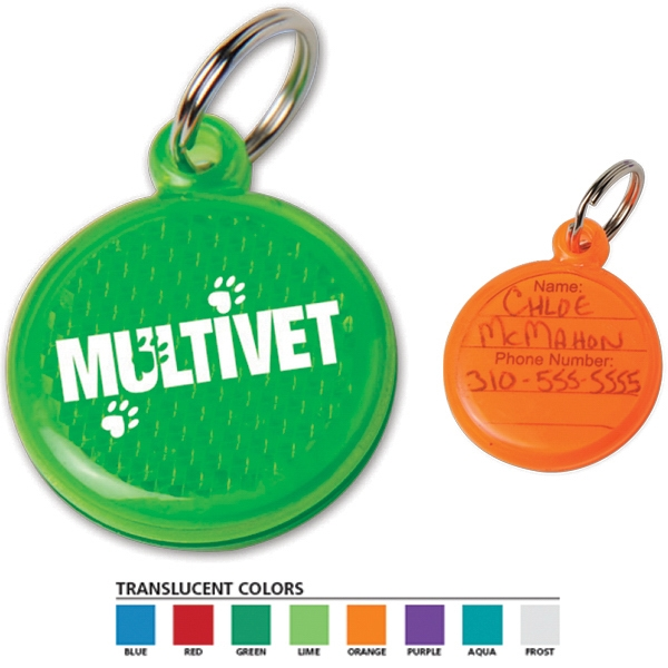 Round Shaped, Reflector Id Tag For You Or Your Pet Photo