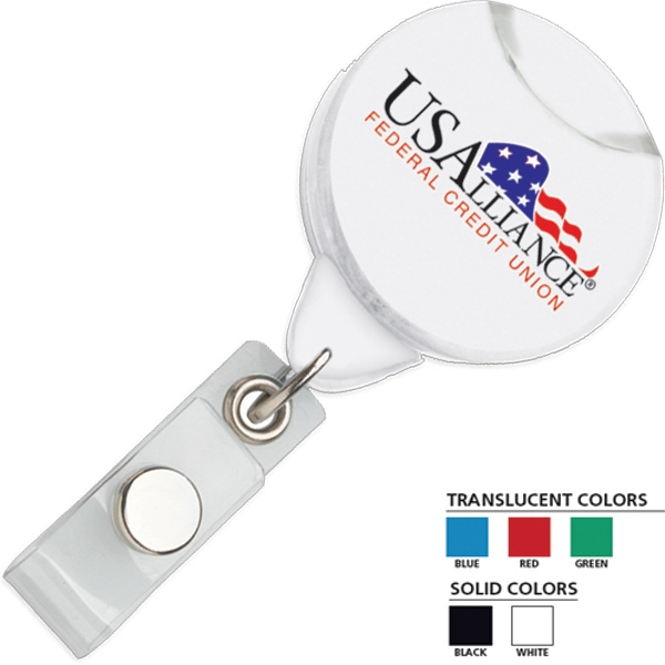 Secure-a-badge (tm) Contempo - Retractable Badge Holder With 360 Degree Swivel Action Photo