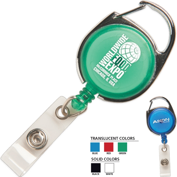 Secure-a-badge (tm) - Metal Carabiner-style Clip On Top Keeps Your Identification Holder In Place Photo