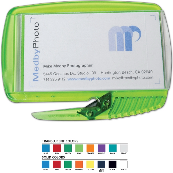 Business Card Slitter Plus (tm) - Letter Opener/staple Remover, Holds Standard Business Card Photo