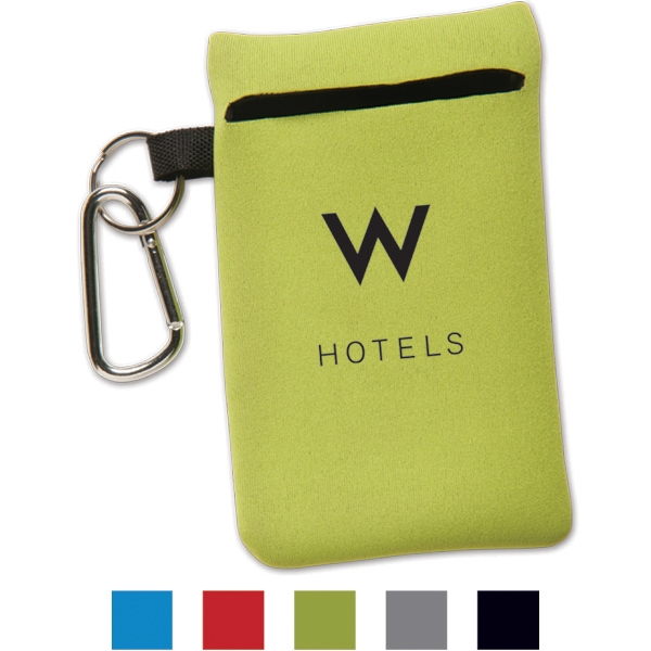 Neoprene Cell Phone Sleeve With Carabiner Photo