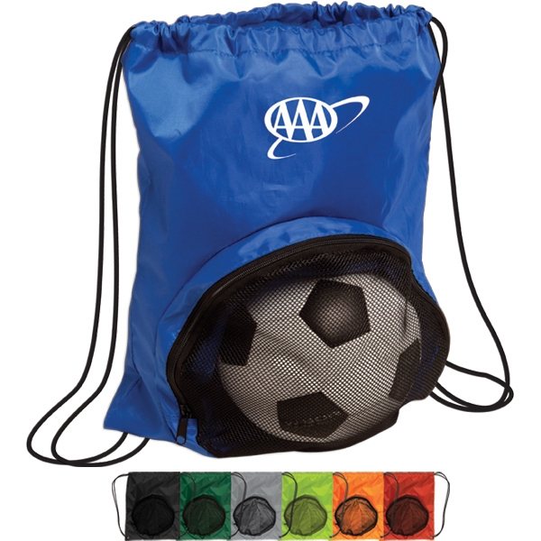 Striker - Drawstring Backpack With Zipper Pocket For Ball Photo