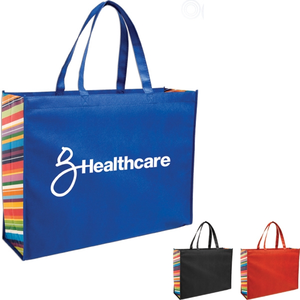 Expo - Tote Bag Constructed Of 80 Gsm Non-woven Polypropylene With Color Burst Photo