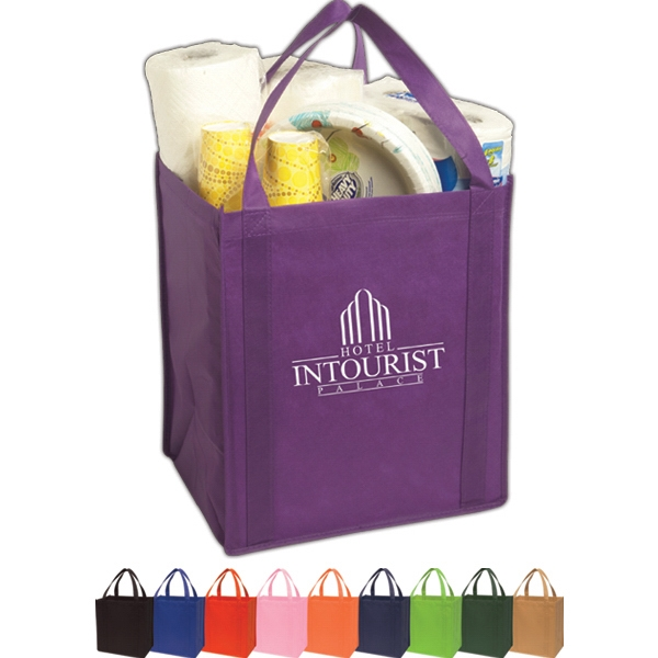 Large Non-woven Grocery Tote Constructed Of 80 Gsm Non-woven Polypropylene Photo