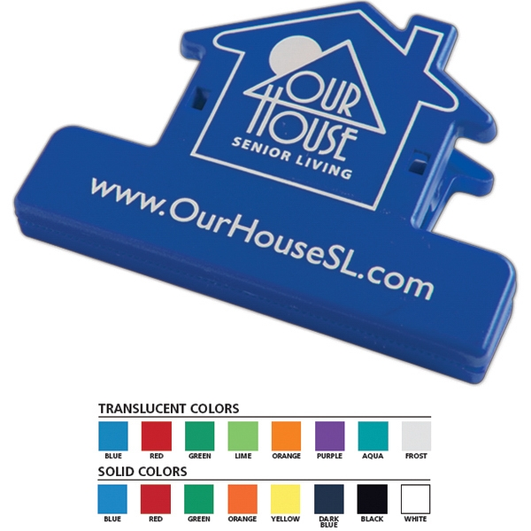Keep-it (tm) - House Shaped Utility Clip That Holds Food Bags Closed And Documents Grouped Photo