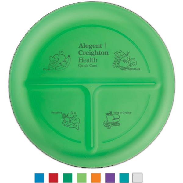 Durable Food Grade Polypropylene Plate With Three Compartments Photo