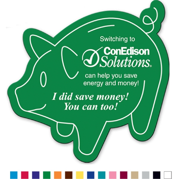 Piggy Bank - Flexible Magnet With Pig Shape. Made In The Usa Photo
