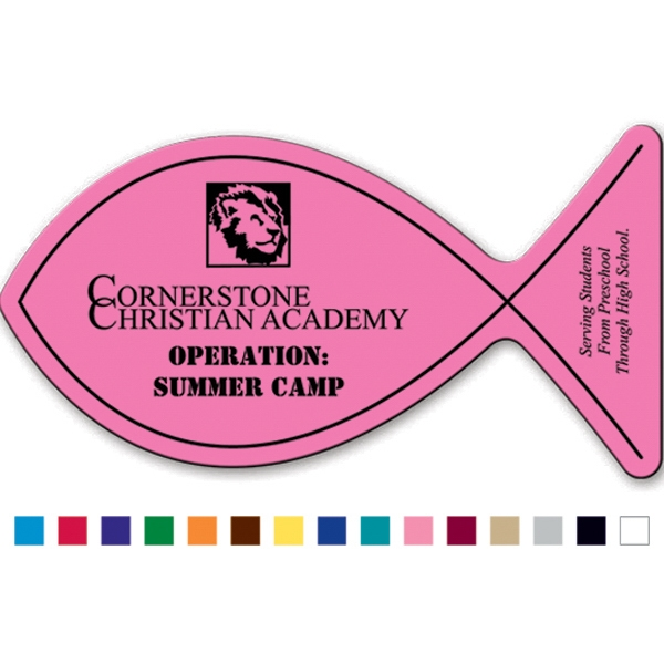 Christian Fish - Magnet Made Of Flexible 30 Mil Permanent Magnet Photo