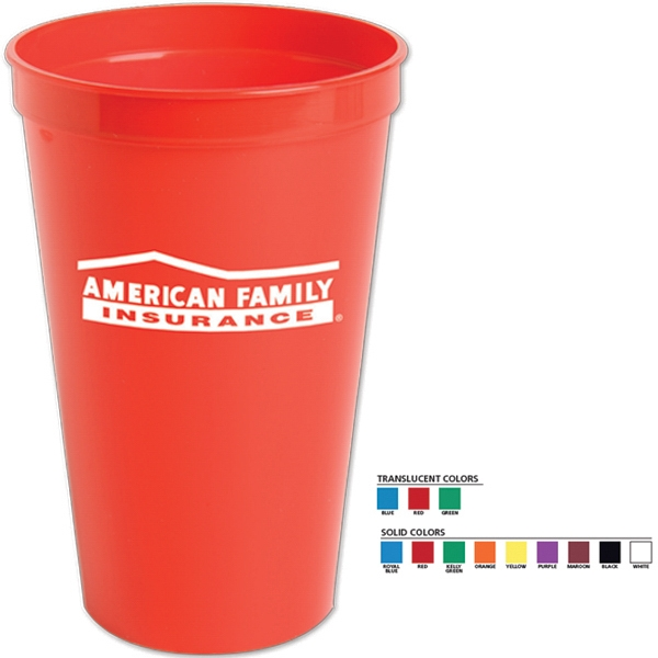 Stadium Cup. 22 Oz. Made From Polypropylene Material Photo