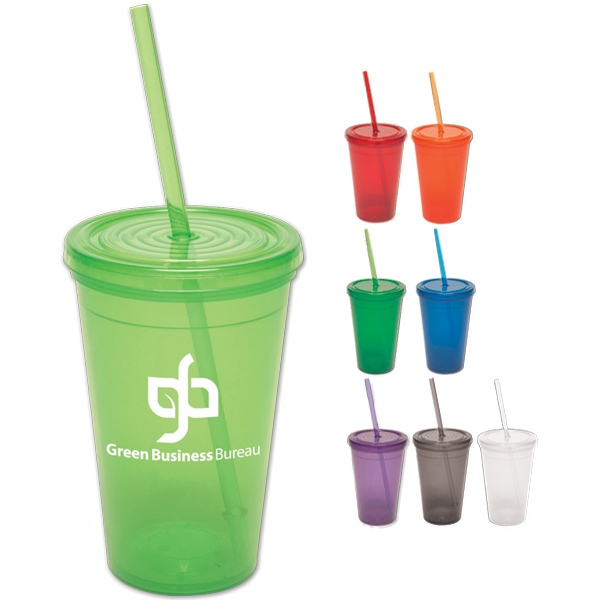 Semi-pro - 16 Oz. Bpa Free Tumbler With Lid And Straw Photo