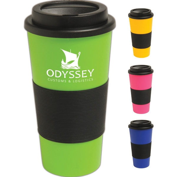 Express Commuter - 16 Oz Double-wall Insulated Tumbler Makes Handling Hot Drinks Easy When On The Go Photo
