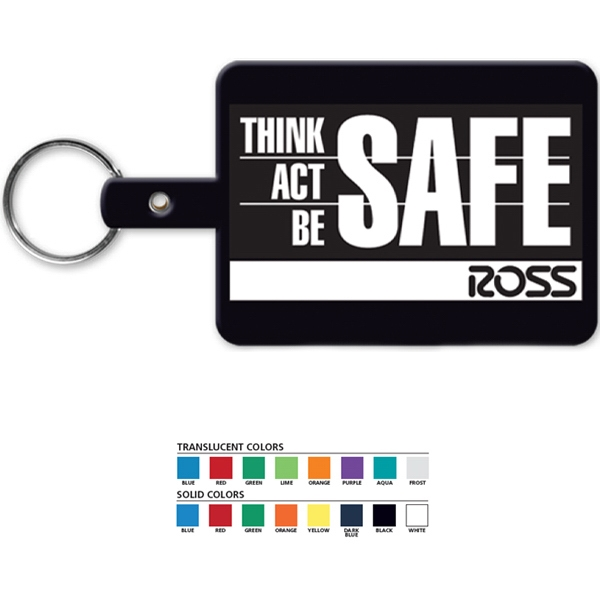 Large Rectangle - Rectangular Key Tag With Split Ring Photo
