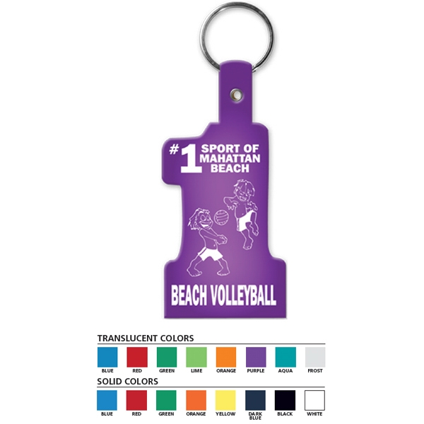 Number Shape - Shaped Key Tag Photo
