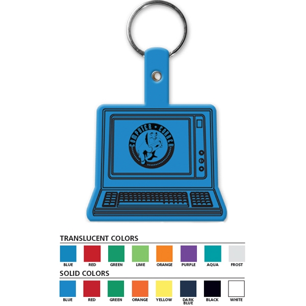 Computer - Shaped Key Tag Photo