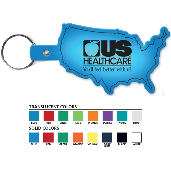 United States Shaped Key Tag Photo