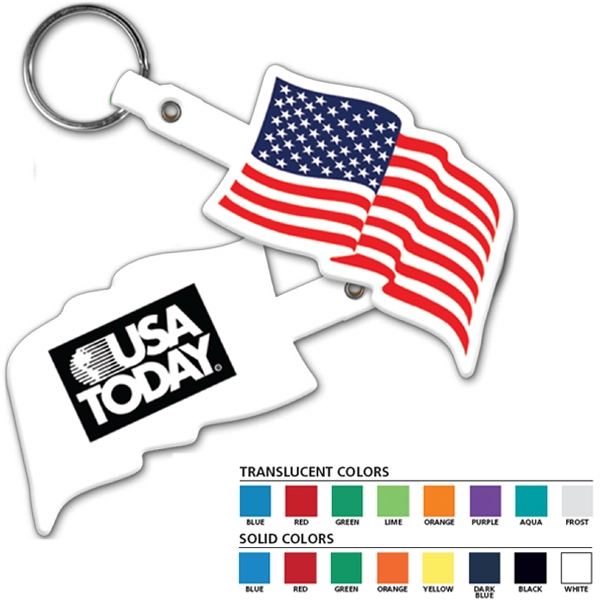 U.s. Flag Key Tag Photo