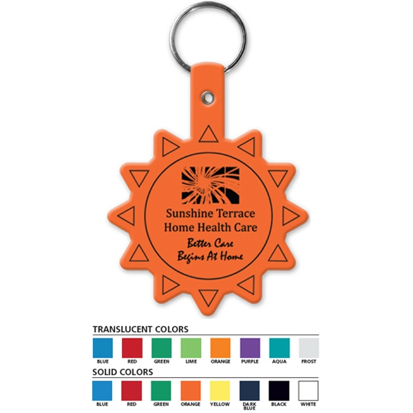 Sun Shaped Key Tag Photo
