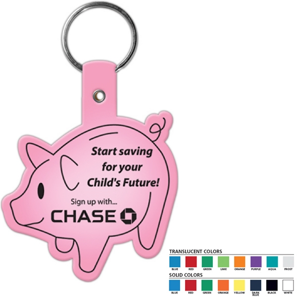Piggy Bank Shaped Key Tag Photo