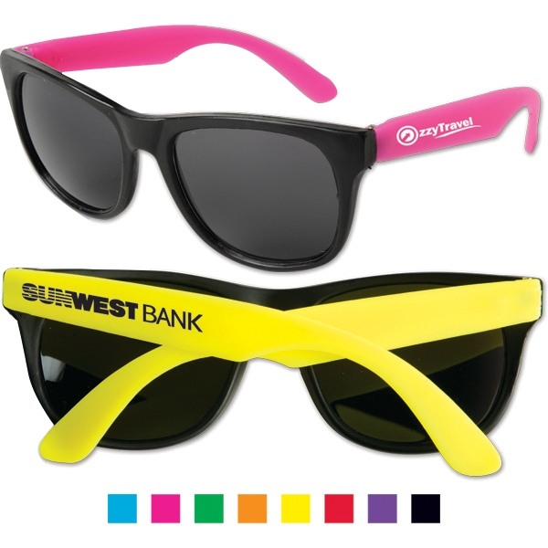 Sunglasses With Ultraviolet Protective Lenses And Black Frames Photo