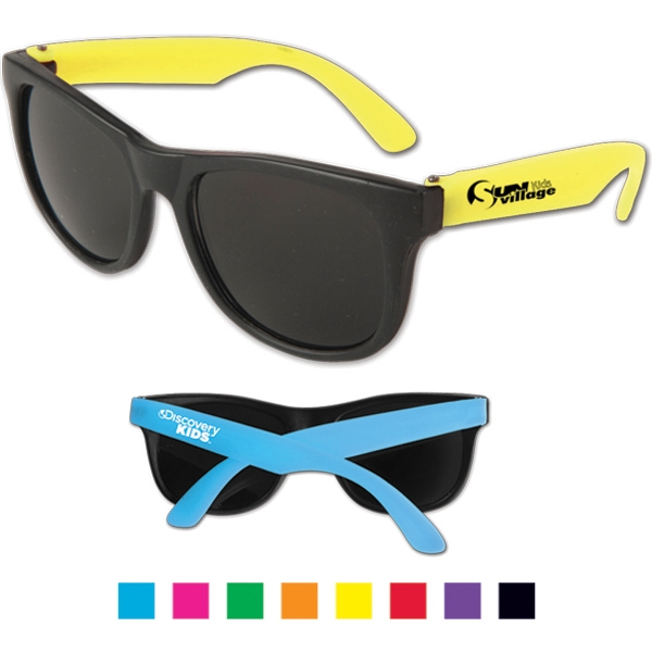 Junior - Neon Sunglasses With Dark, Ultraviolet Protective Lenses. Uv Rating 400 Photo