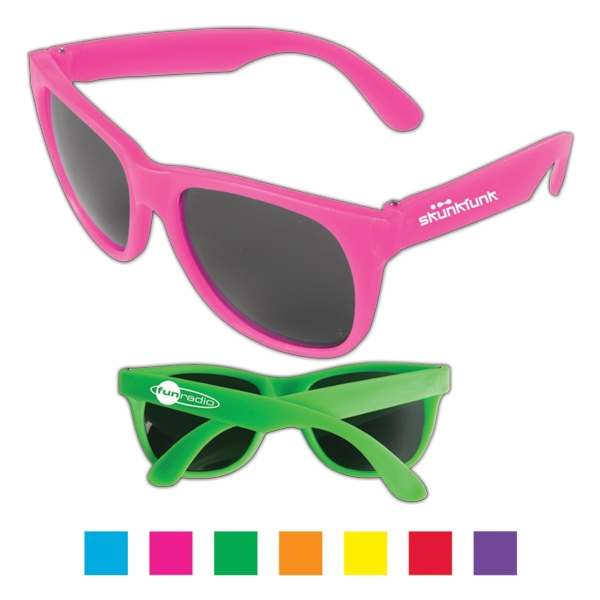 Sweet - Vibrant Colored Sunglasses With Dark, Ultraviolet Protective Lenses Photo