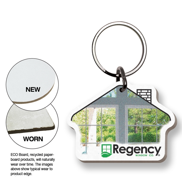 Key Tag - House - Full Color. Digital 4-color Process Print; Split Ring Included Photo