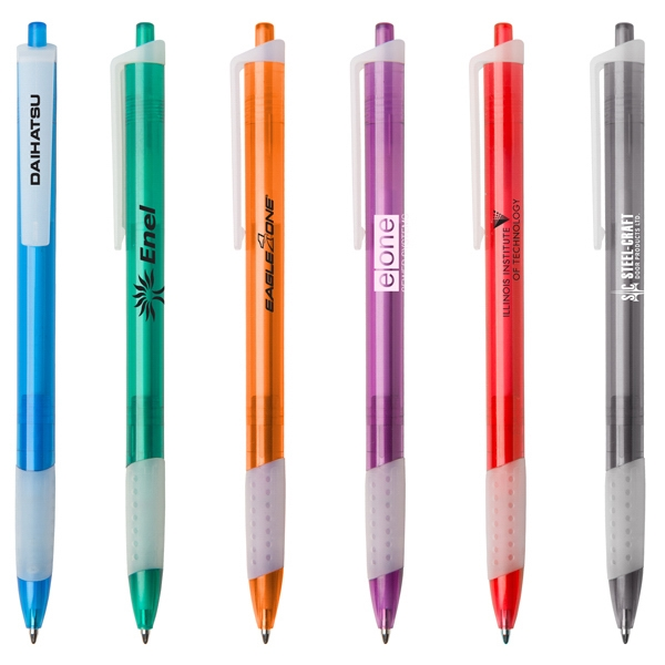 Catalina Tg - Slim Retractable Ballpoint Pen With Translucent Barrel And Rubber Grip Photo