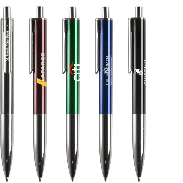 Milan - Sleek Styled Retractable Ballpoint Pen Made Of Aluminum Photo