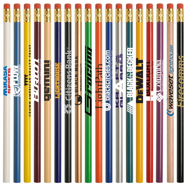 Jo-bee Economy Line - Round #2 Pencil With Eraser And Gold Ferrule Photo
