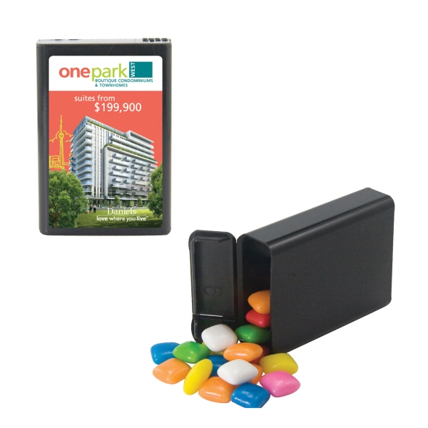 Mint Man - Refillable Plastic Mint/candy Dispenser With Gum. Chewing Gum In Candy Dispenser Photo