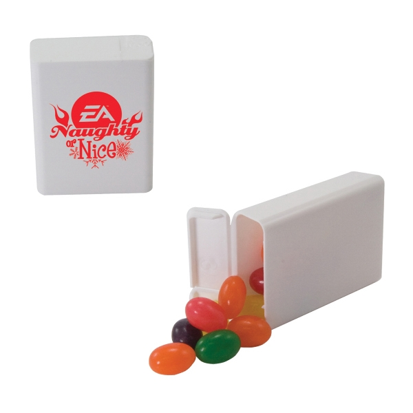 Candy King - Refillable Plastic Mint/candy Dispenser With Jelly Beans. Jelly Beans In Dispenser Photo
