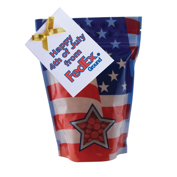 Large Window Bag with Cinnamon Red Hot Candy - Patriotic
