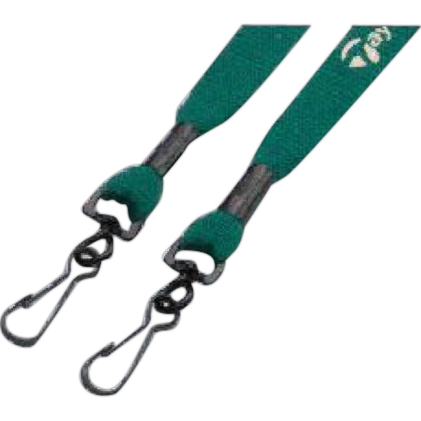 "1/2"" Knitted Cotton Lanyard With Double Swivel Hooks Photo"