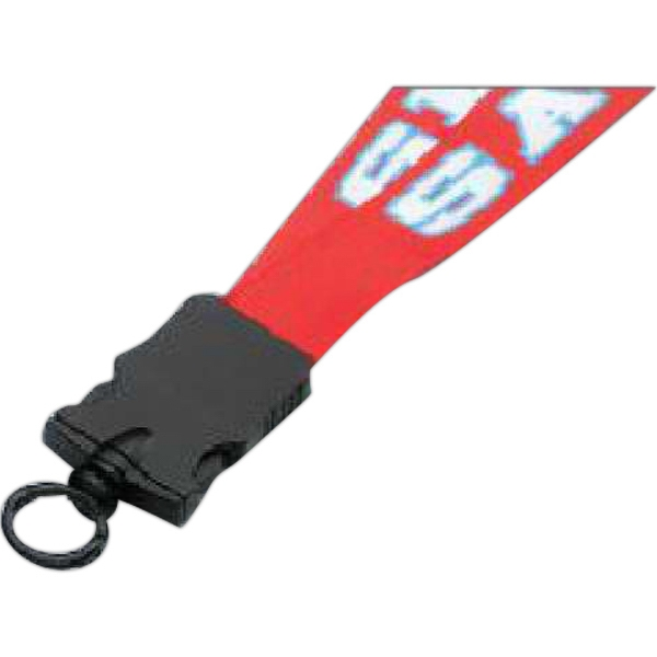 "3/4"" Dye Sublimated Lanyard w/ Plastic Snap-Buckle Release"