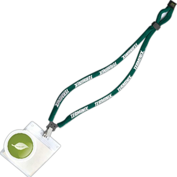 Dual Use Cotton Trade Show Lanyard Photo
