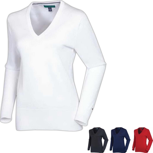 Ladies' Ingrid V-Neck Solid Sweater
