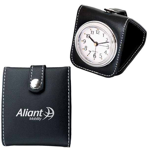 Simulated Leather Travel Alarm Clock Photo