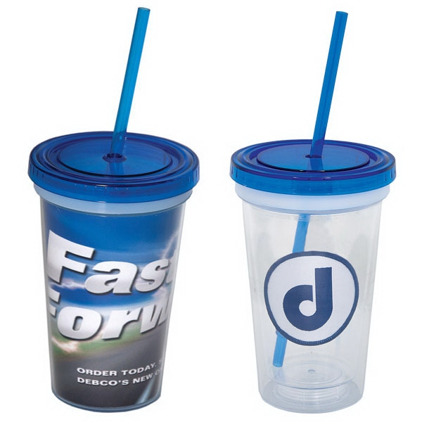 16 Oz. Double Walled Acrylic Tumbler With Removable Insert Photo