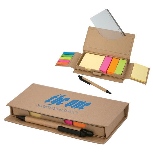 "475 Large Sticky Notepad Set, 7.25"" W X 4"" H X 1"" D Photo"