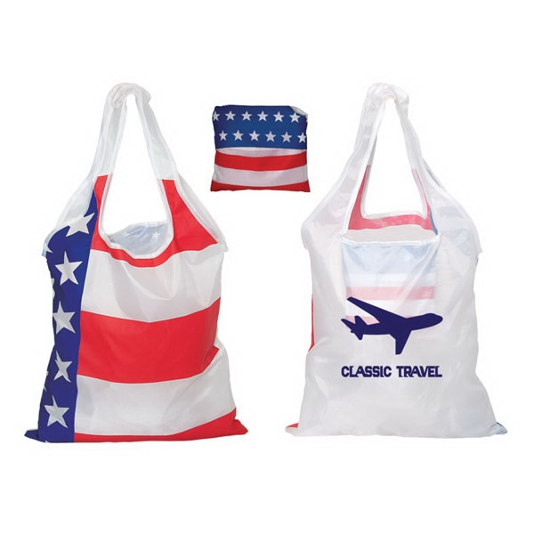 Folding Usa Tote, Lightweight 190t Polyester Photo